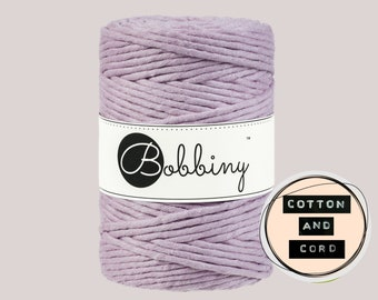 Bobbiny 5mm Dusty Pink XXL Single Twist Cord -100% Recyled Cotton Cord | Rope | Macrame Cord | Oeko-Tex Standard 100