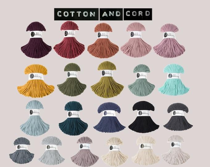 Bobbiny 3mm Junior Cord  -  NEW Silvery & Golden 100% Recycled Cotton Cord | Rope| Macrame Cord | Oeko-Tex 100 | Crochet | Weaving