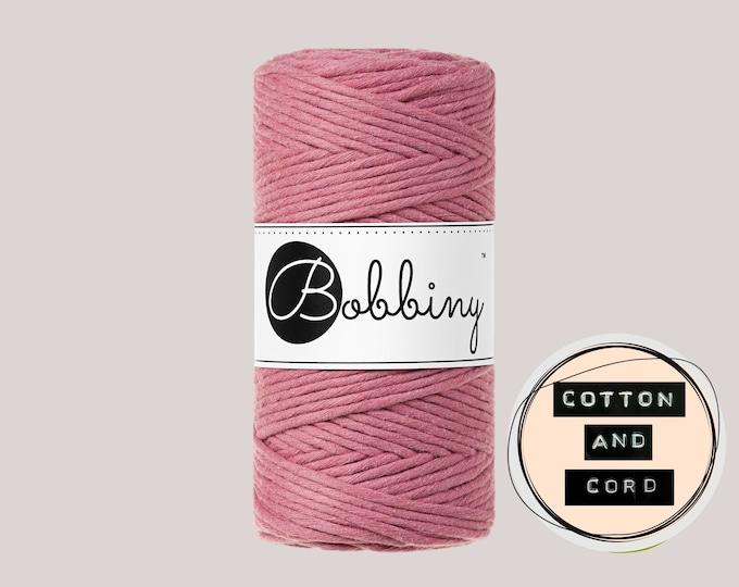 NEW Blossom Pink by Bobbiny  | 3mm Premium Macrame Cord - Single Twist Cord - 100% Recycled Cotton Cord | Rope | Macrame Cord | Crochet Yarn