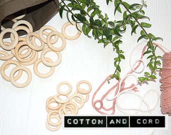 Macrame Rings | Wooden Hoops -  Plant Hanger Ring | Macrame Accessories Medium and Large