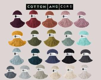 Bobbiny 3mm Junior Cord  - 100% Recyled Cotton Cord | Rope | Macrame Cord | Yarn - Oeko-Tex Standard 100 | Crochet | Weaving