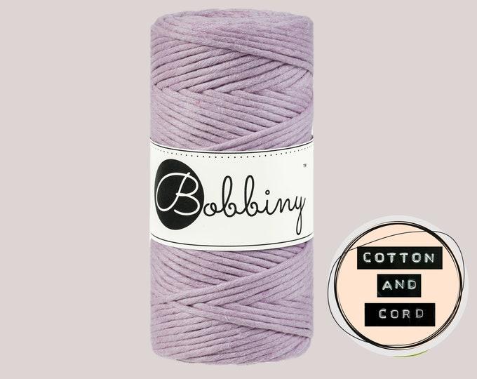 Bobbiny 3mm Regular Dusty Pink - Single Twist Cord - 100% Recycled Cotton Cord | Rope | Macrame Cord | Crochet Yarn  Oeko-Tex Standard 100