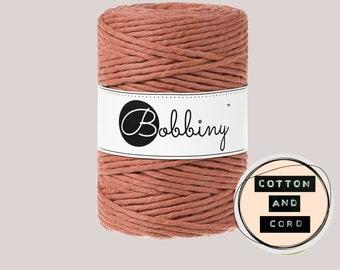 Bobbiny 5mm Terracotta XXL Single Twist Cord -100% Recyled Cotton Cord | Rope | Macrame Cord | Oeko-Tex Standard 100 Fiber Art