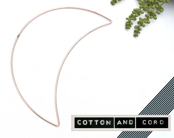 "Moon Shape for Macrame -  12"" inch | 30cm - LARGE SHAPE| Metal Moon | Floristry Shape | Wire Shapes - Macrame Accessory | 12"""