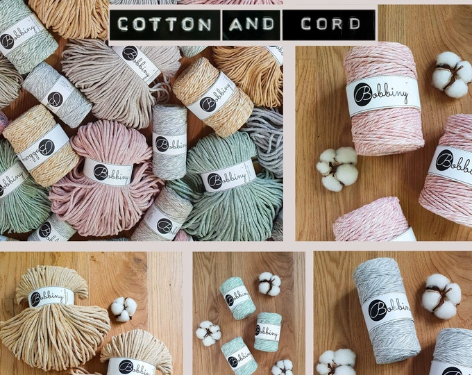 NEW - Bobbiny Summer Limited Edition Blends | Mojito | Sunflower | Strawberry | Frappe | Marble  - 100% Recycled Cord | Macrame Cord