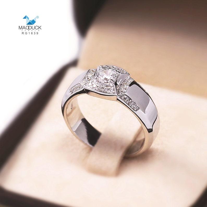 Cubic Zirconia  Sterling Silver 925 Ring  Rhodium plated Nickel-Free  MadDuckJewels RG1639