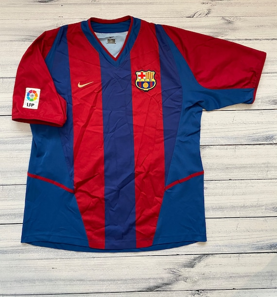 Barcelona vintage Nike soccer Jersey football tshi