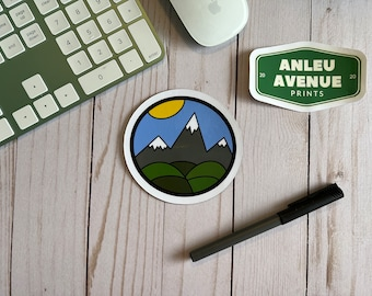 Simple Mountains Magnet | High Quality Indoor Magnet |