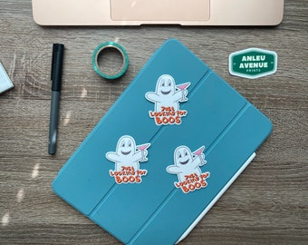 Looking for Boos Ghost | Water Resistant Glossy Die Cut Sticker | Halloween Inspired Design |