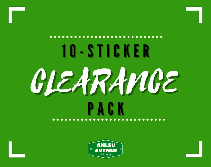 Featured listing image: 10-Sticker Mystery Clearance Pack | Water Resistant Glossy Stickers |