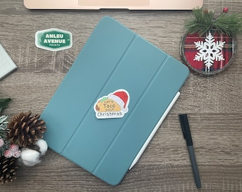 Lets Taco bout Christmas | Water Resistant Glossy Die Cut Sticker | Holiday Inspired Design |