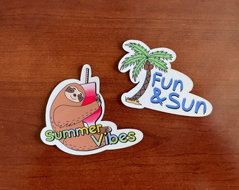 Summer Themed Cruise Door Magnet Collection | High Quality Magnet | 2-Pack Magnets