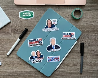 Biden Harris 2020 Collection | Water Resistant Glossy Die Cut Sticker | 2020 Presidential Election Inspired Pack