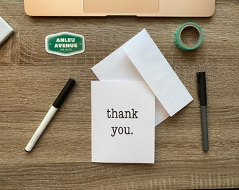 Simple thank you. Greeting Card   Blank A2 Size Greeting Card