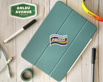 Proud Pride Flag   Water Resistant Glossy Die Cut Stickers   Pride Inspired Designs