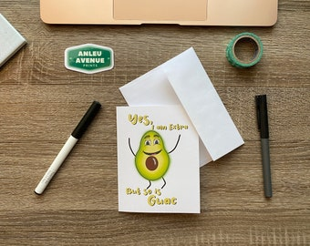 Extra Like Guac Greeting Card | Blank A2 Size Greeting Card