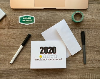 2020 Would Not Recommend Greeting Card   Blank A2 Size Greeting Card