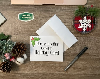 Generic Holiday Card Greeting Card | Blank A2 Size Greeting Card | Holiday Inspired Design