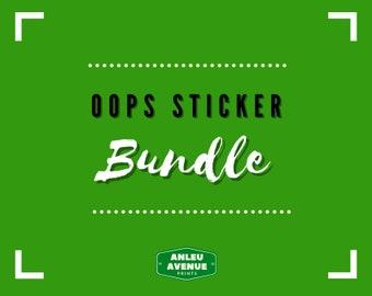 Oops Sticker Bundle Pack   Die-Cut Stickers   Second Chance B-Grade