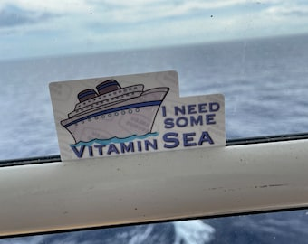 I Need Some Vitamin SEA | Water Resistant Glossy Die Cut Sticker |