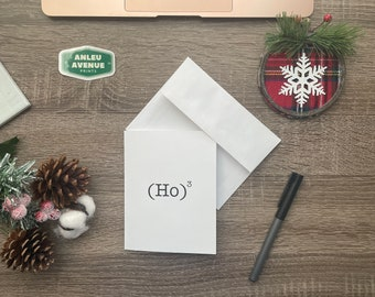 Ho Ho Ho | Blank A2 Size Greeting Card | Holiday Inspired Design