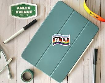 Ally Pride Flag   Water Resistant Glossy Die Cut Stickers   Pride Inspired Designs