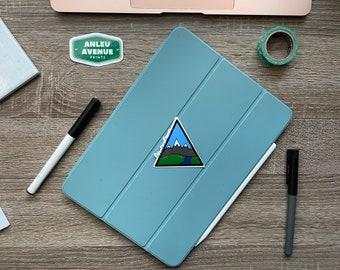 Adventure Awaits   Water Resistant Glossy Die Cut Sticker   Nature Inspired Design  
