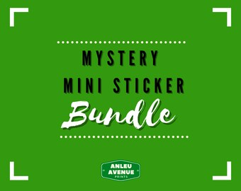 Mystery Mini Sticker Pack | Water Resistant Glossy Die Cut Stickers |