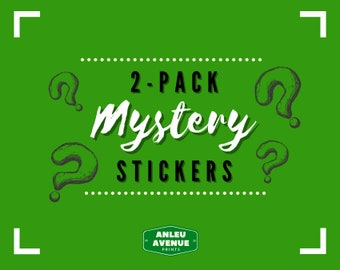 2-Pack Mystery Stickers   Die-Cut Stickers  