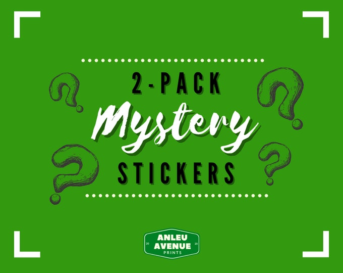 Featured listing image: 2-Pack Mystery Stickers | Die-Cut Stickers |