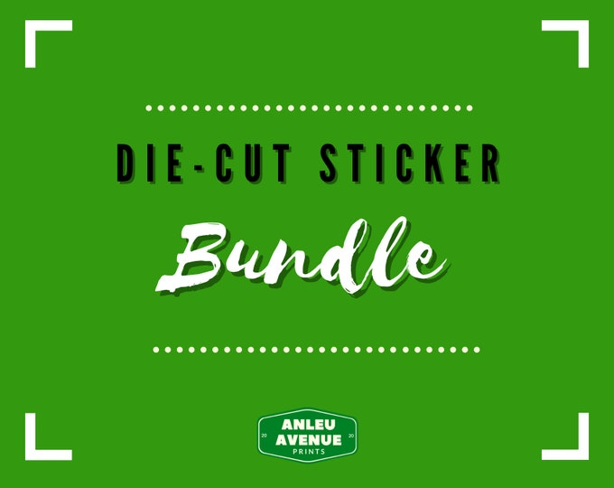 Featured listing image: BUNDLE PACK - Stickers | Water Resistant Glossy Die Cut Stickers |