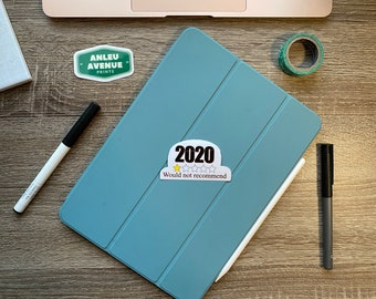 2020 Would Not Recommend | Water Resistant Glossy Die Cut Sticker |