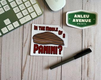 Middle Of a Panini Magnet | High Quality Indoor Magnet |