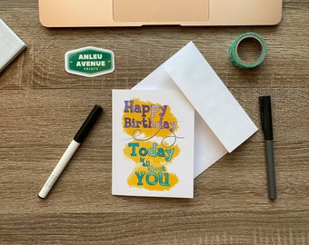 Happy Birthday It's All About You Greeting Card | Blank A2 Size Greeting Card