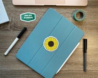 Simple Sunflower | Water Resistant Glossy Die Cut Sticker |