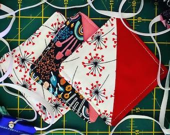 Fabric corner bookmarks