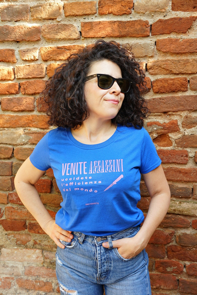 Blue T-shirt Come Assassins Woman image 0