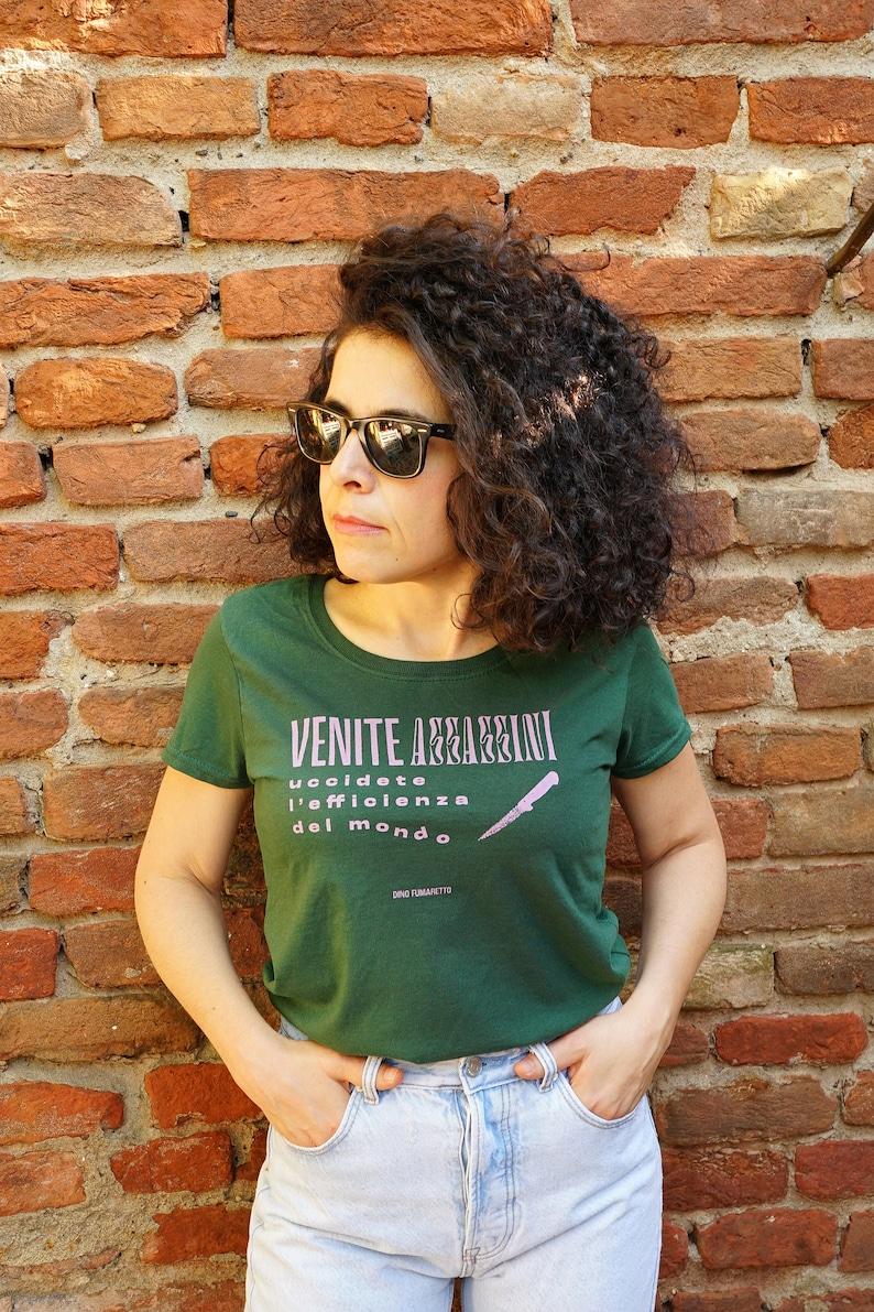 Green T-shirt Come Assassins woman image 0