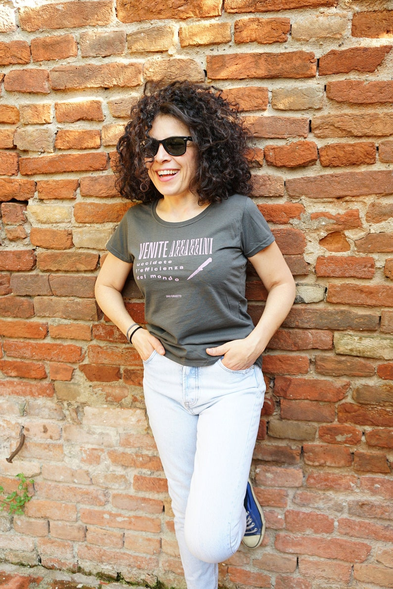Grey T-shirt Come Assassins Woman image 0