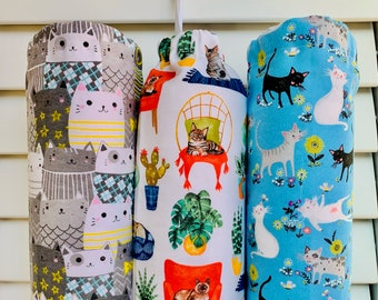 Cats /& Dogs Pattern Carrier Bag Holder//Dispenser//Home Crafted