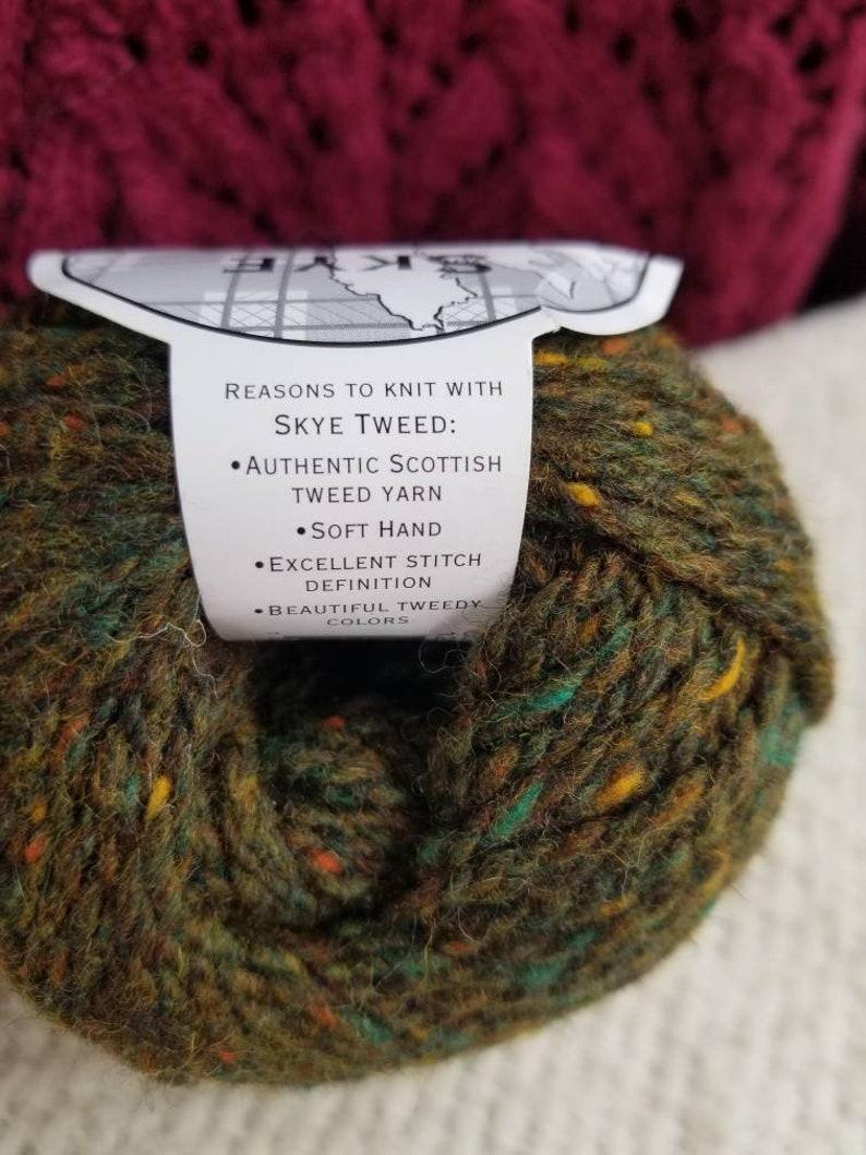 Classic Elite Yarns Skye Tweed Color 1215 Green Tweed 50g