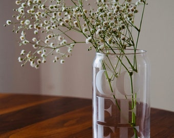 Iced Coffee Glass | Beer Can Glass | Clear Coffee Glass