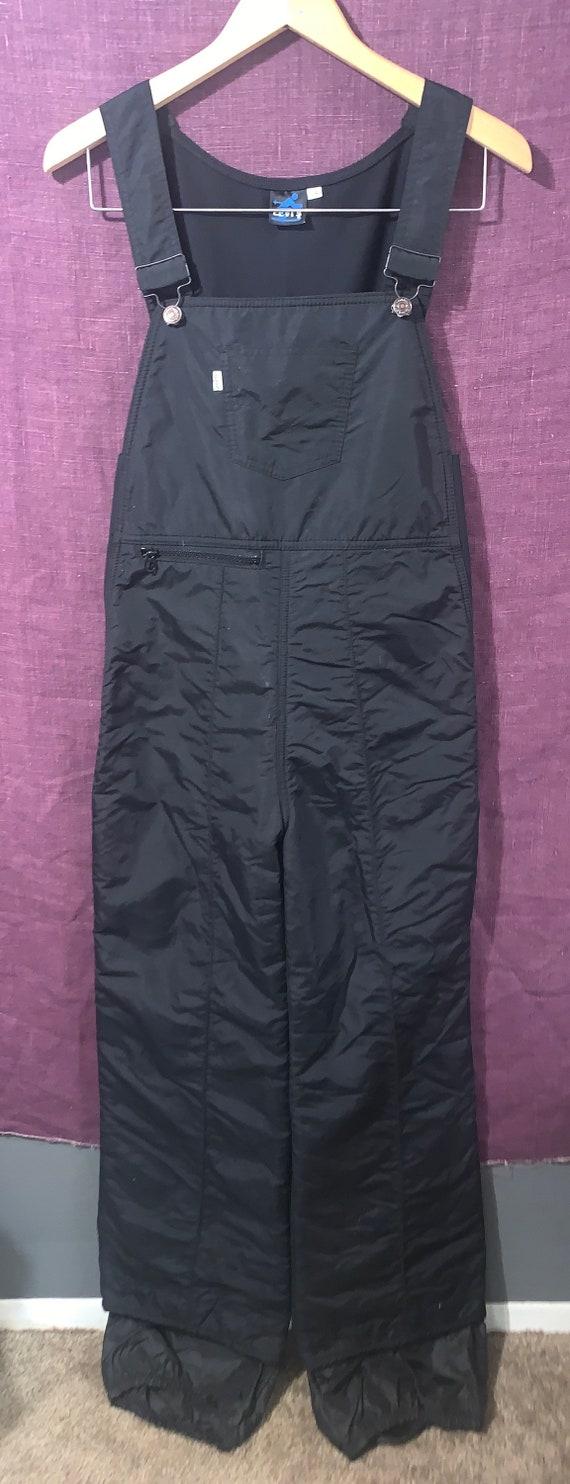 80's Vintage Levi's Black Overalls Snowsuit