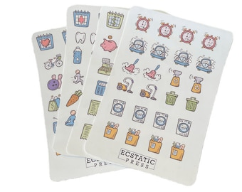 Ultimate Planner 8-Pack Stickers, Stickers for Bullet Journals, Appointment Planner Stickers, Calendar Stickers, Planner Stickers Kit