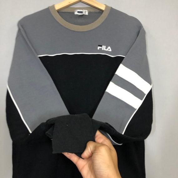 Vintage 90s Fila Sweatshirt Medium Fila Lusso Big… - image 5