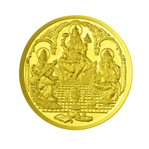 Goddess Laxmi Coin In Pure Silver 999 Gold Plated Religious Coin 25 Grams