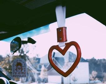 Tsurikawa JDM Ring Charm Japanese Heart and Ring Shaped Subway Handle