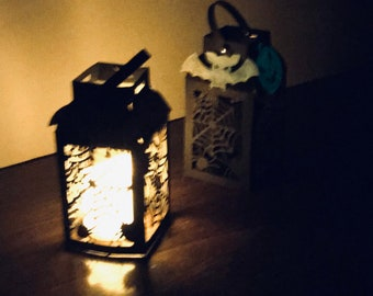 DIY Halloween Lantern Kit, Paper Crafts For Adults,Arts And Crafts For Kids,Kit With Tutorial,Home Decoration Set