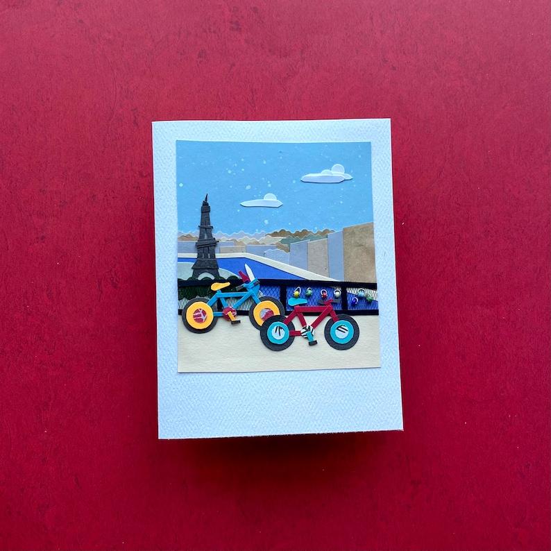 Paris Polaroid #18 Paper Collage Valentine/'s Day Card Handmade Valentine Valentine/'s Day Card 3D Handmade Paper Card Paper Collage