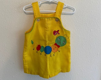 Vintage Baby Onesie  Cotton Floral Jumpsuit  Flowers Baby Onesie  Baby Bodysuit  6M 6 Months 3M 3 Months